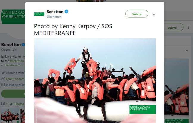 «Aquarius»: SOS Méditerranée dénonce la campagne de Benetton avec des migrants