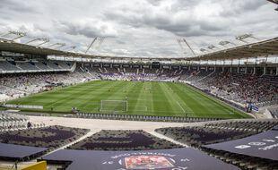 Le Stadium de Toulouse lors du match de Ligue 2 entre Toulouse et Dunkerque, le 22 août 2020.