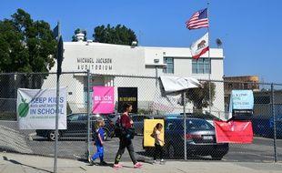 L'auditorium Michael Jackson de l'école de Gadner Street, à Los Angeles.