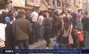 Les réfugiés du camp palestinien de Yarmouk, au sud de Damas.