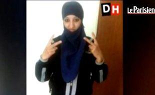 Capture d'écran d'une vidéo du Parisien montrant Hasna Ait Boulahcen, la jeune femme soupçonnée de s'être fait exploser à Saint-Denis.