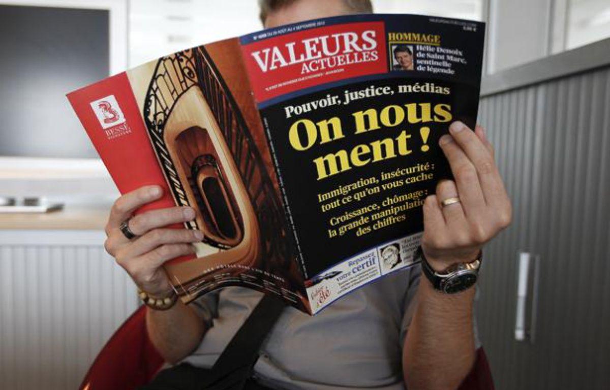 Le magazine Valeurs Actuelles. – A. GELEBART / 20 MINUTES