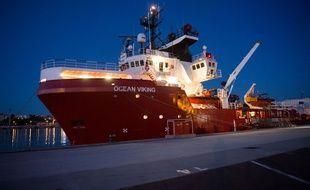 L'Ocean Viking, le nouveau bateau de secours de SOS Méditerranée et Médecins sans Frontières, le 4 août 2019 à Marseille.