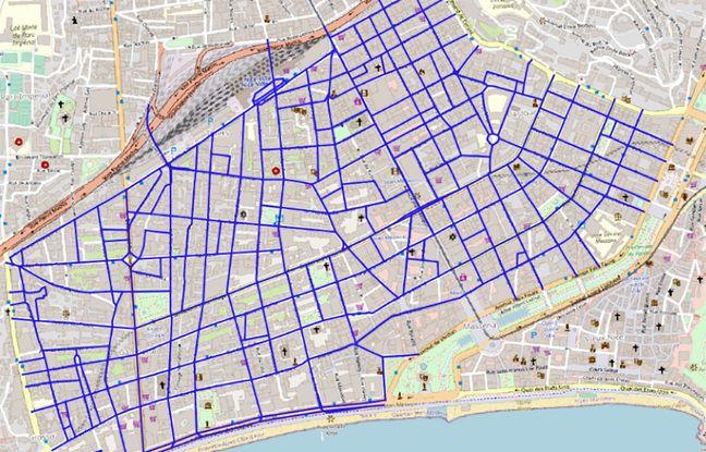 Les rues concernées par la future zone 30