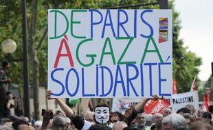 Manifestation de soutien aux Palestiniens de Gaza le 23 juillet 2014 à Paris