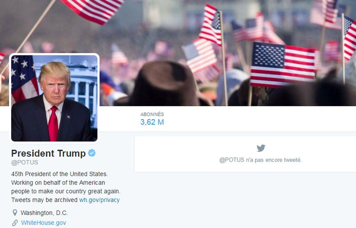 Capture d'écran du compte Twitter POTUS le 20 janvier 2017. – Twitter