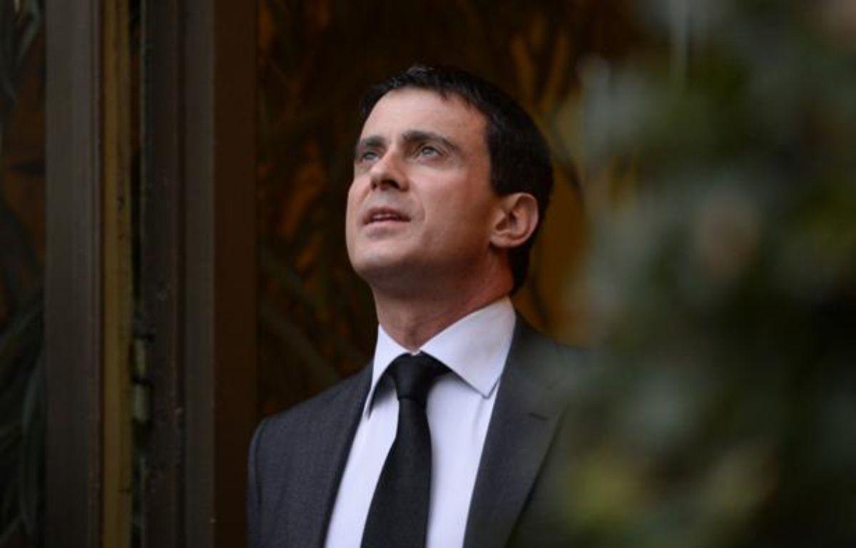 Manuel Valls au ministère de l'Intérieur le 3 janvier 2014. – LIONEL BONAVENTURE / AFP