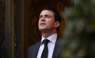 Manuel Valls au ministère de l'Intérieur le 3 janvier 2014.