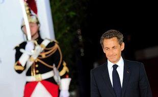 Le Président Nicolas Sarkozy attend les chefs d'Etat lors du sommet du G8 à Deauville, le 27 mai 2011.