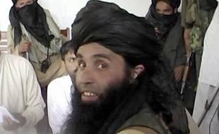 Capture d'écran d'une vidéo datant du 11 novembre 2013 du chef du Mouvement des talibans du Pakistan (TTP) Maulana Fazlullah