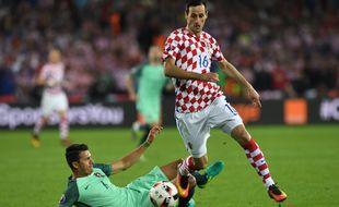 Nikola Kalinic lors de l'Euro 2016 contre le Portugal.