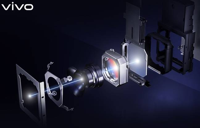 Le système de caméra gimbal du Vivo X51.
