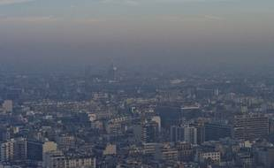 Paris sous la pollution, le 12 décembre 2013.