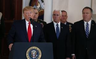 Le président américain Donald Trump, le vice-président Mike Pence et le secrétaire d'Etat Mike Pompeo, le 3 janvier 2019.