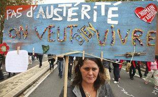 Manifestations des syndicats contre la réforme des retraites du gouvernement Ayrault, à Toulouse, le 10 septembre 2013.