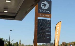 Une station Total Access près de Paris.