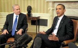 Le Premier ministre israélien et le président américain à Washington, lundi.