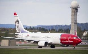 Un Boeing de la Norwegian Airline Shuttle sur le tarmac de l'aéroport d'Oslo, le 2 mai 2014