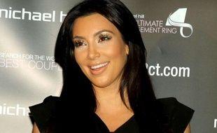 Kim Kardashian lors d'une conférence de presse à New York le 18/10/2010