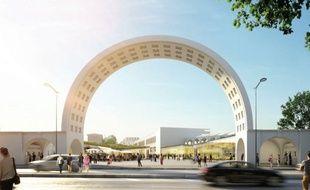 Projet d'aménagement du site Lescure. Ici l'entrée du stade Chaban-Delmas