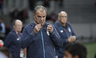 Marcelo Bielsa lors de la réception de Bordeaux, au stade Pierre-Mauroy.