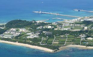 La base militaire américaine de White Beach, sur l'île d'Okinawa, non loin de l'endroit où les pièces ont été découvertes.