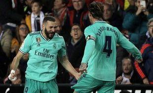 Karim Benzema a arraché l'égalisation pour le Real Madrid à Valence.