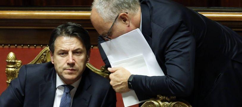Le Premier ministre italien Giuseppe Conte au Sénat à Rome, le 10 septembre 2019.