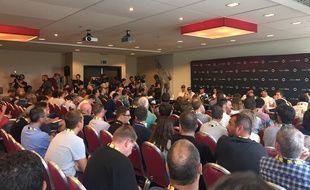 La conférence de presse d'Ineos a attiré de nombreux journalistes