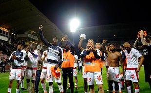La joie des Girondins après leur qualification en Ligue Europa.