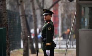 Un policier chinois - Illustration