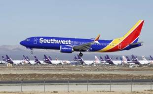 Un Boeing 737 Max de Southwest Airlines (illustration).