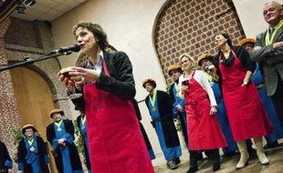 Hier,à la Halle au sucre, les brasseurs ont présenté les premières bières de noël.