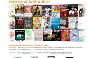 La bibliothèque virtuelle d'Amazon.