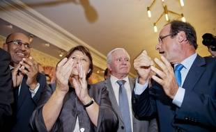 Le 25 septembre 2011. Annonce des resultats des senatoriales 2011 au Senat . Francois Hollande , Martine Aubry ?.// V. WARTNER / 20 MINUTES