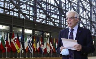 Le chef de la diplomatie de l'Union européenne, Josep Borrell, à Bruxelles le 22 février 2021.
