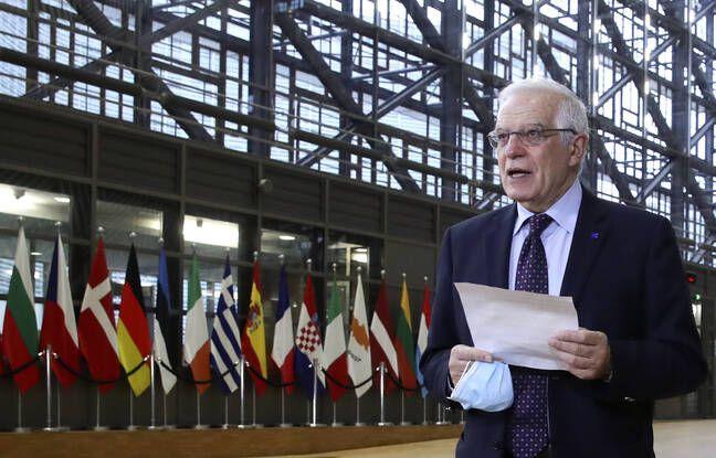 648x415 le chef de la diplomatie de l union europeenne josep borrell a bruxelles le 22 fevrier 2021