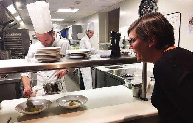 Mélanie a pu assister à la confection des plats à LA table d'hôtes de Philippe Etchebest