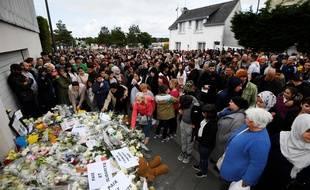 Un hommage à l'enfant tué lors d'un dramatique accident de la route, à Lorient le 13 juin 2019.