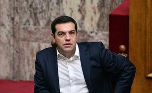 Le Premier ministre grec Alexis Tsipras lors de la cérémonie d'investiture des nouveaux députés élus le 20 septembre lors des élections générales, à Athènes, le 3 octobre 2015