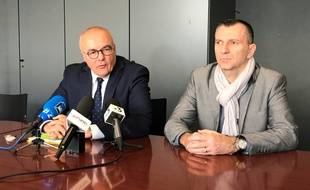 Pierre Sennès, procureur de Nantes, et Marc Perrot, chef de la PJ de Nantes.