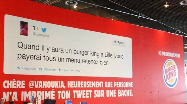 lille burger king organise un mini buzz sur twitter. Black Bedroom Furniture Sets. Home Design Ideas