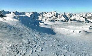 Vue de la webcam sur le glacier des Deux Alpes, vendredi dernier.