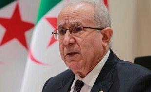 Ramtane Lamamra, le ministre des Affaires étrangères algérien, lors d'une conférence de presse à Alger, le 24 août.