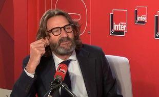 Frédéric Beigbeder lors de son ultime chronique dans la matinale de France Inter, le 29 novembre 2018.