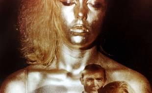 Détail du générique de Goldfinger.