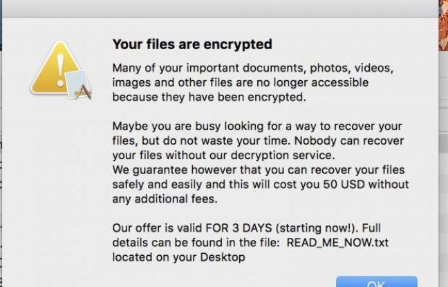 Un nouveau ransomware cible les propriétaires de Mac