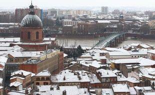 Toulouse sous la neige, le 20 janvier 2013