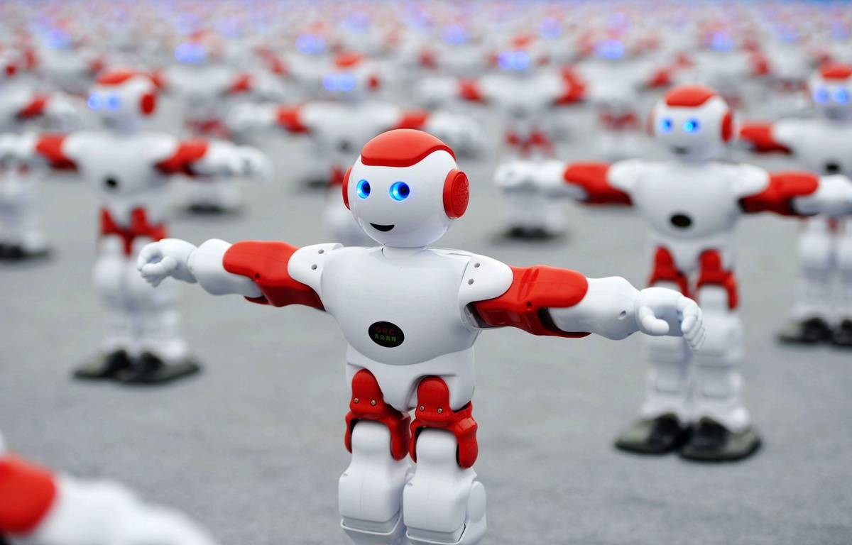 """Un """"flash-mob"""" de robots, le 31 juillet 2016 en Chine. Illustration – SIPA"""