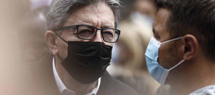 Le leader de la France Insoumise, Jean-Luc Mélenchon, lors de la Marche des libertés le 12 juin 2021.